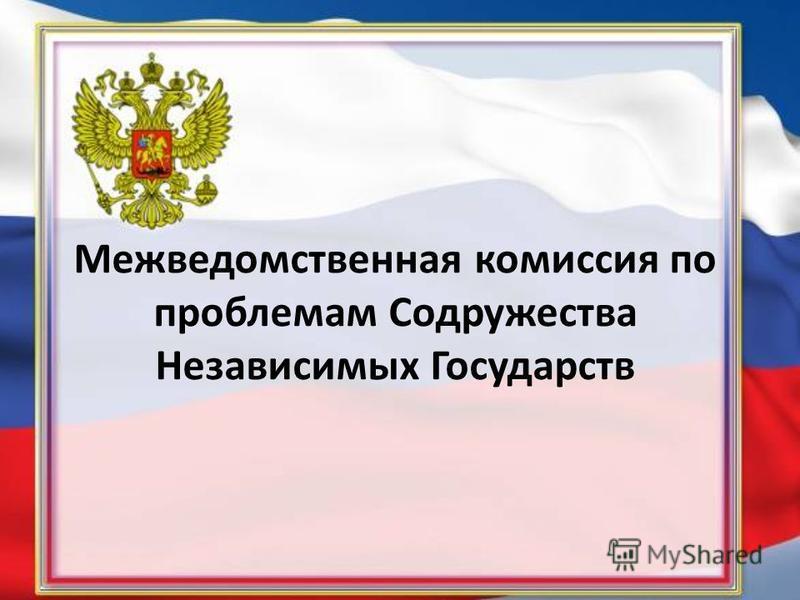 Межведомственная комиссия по проблемам Содружества Независимых Государств