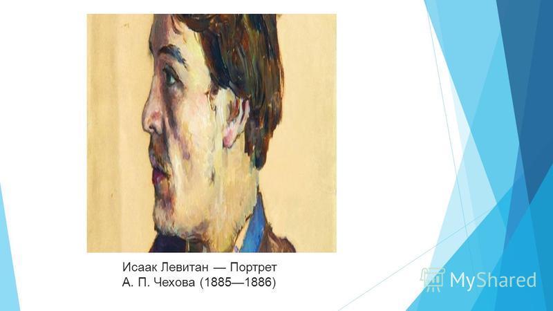 Исаак Левитан Портрет А. П. Чехова (18851886)
