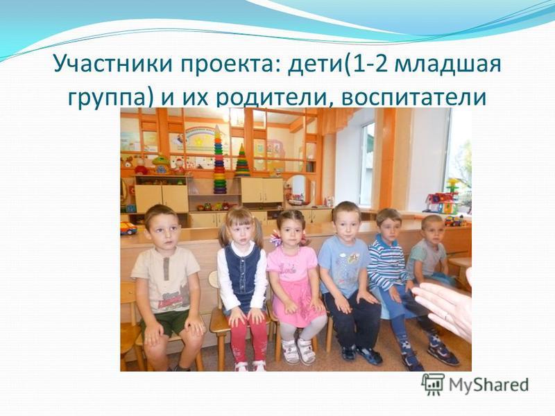 Участники проекта: дети(1-2 младшая группа) и их родители, воспитатели