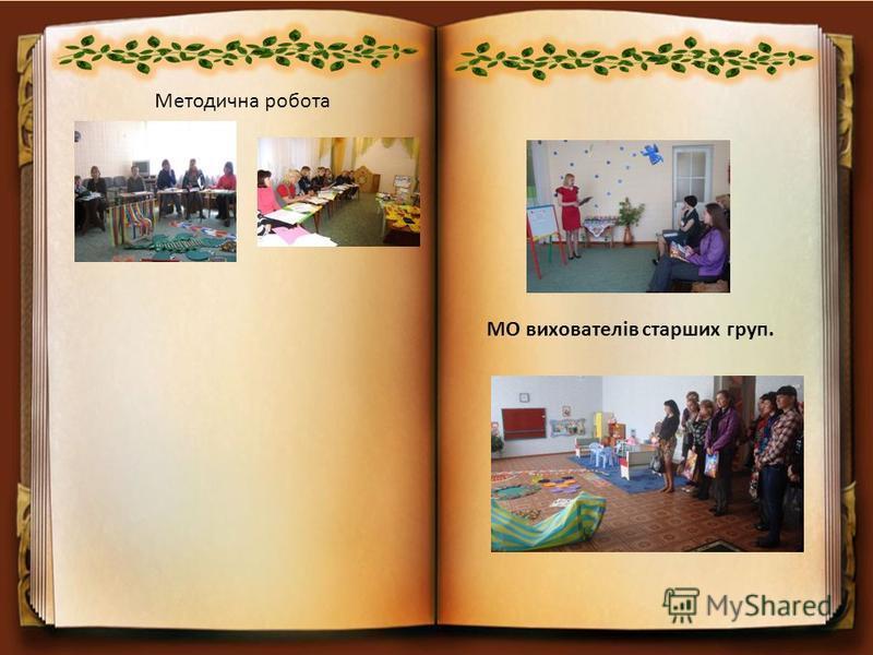 Методична робота МО вихователів старших груп.