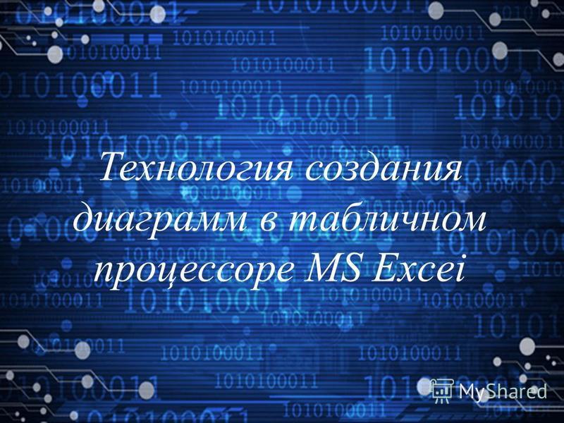 Технология создания диаграмм в табличном процессоре MS Excei