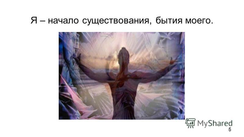 Я – начало существования, бытия моего. Я – конец существования, бытия моего, потому что если нет меня, то нет ничего. Я – середина существования, бытия моего, потому что без меня нет ничего. Я – центр сознания своего, ибо без меня, как сознающего не