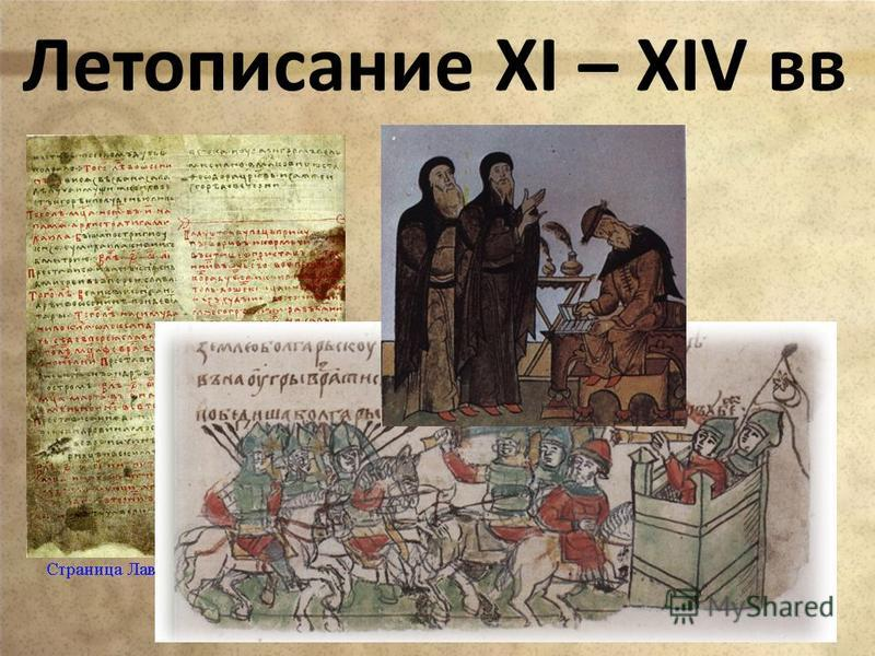 Летописание XI – XIV вв.