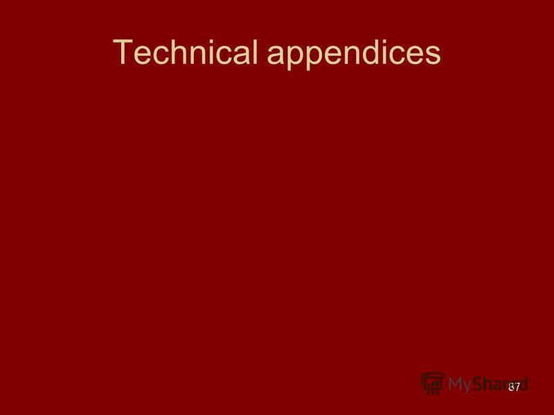 87 Technical appendices