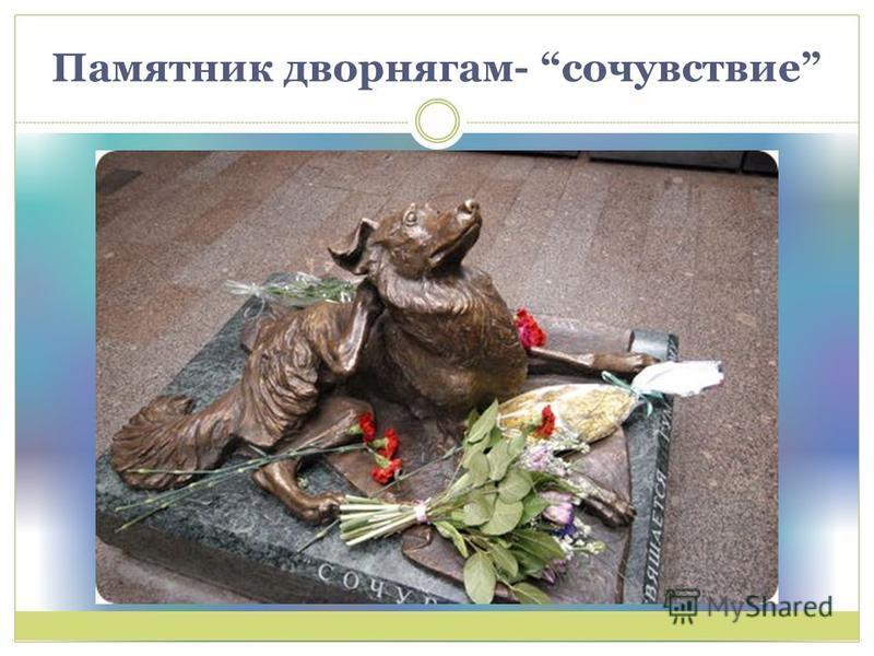 Памятник дворнягам- сочувствие