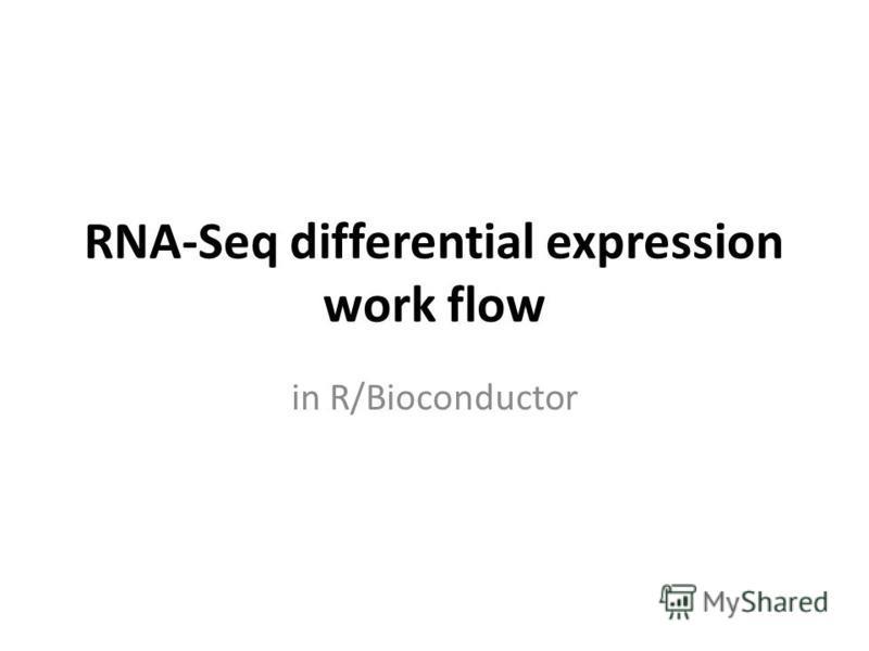 RNA-Seq differential expression work flow in R/Bioconductor