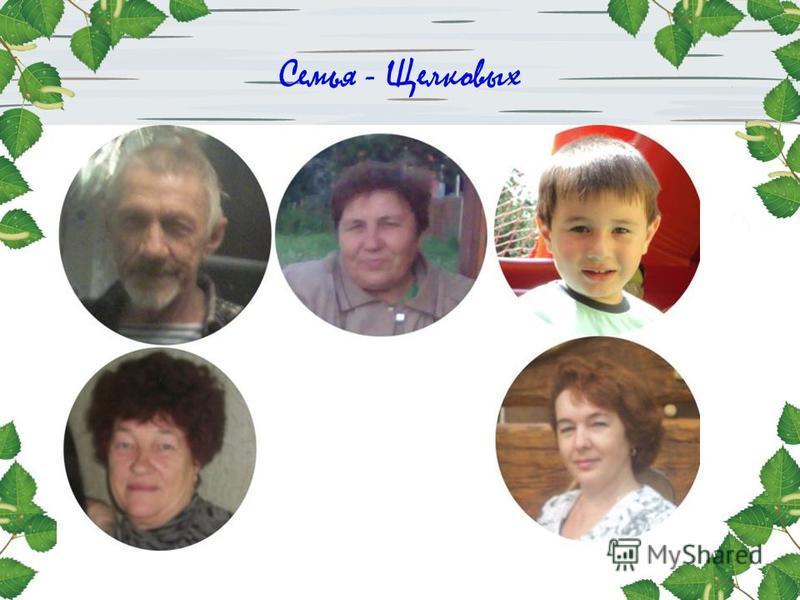 Семья - Щелковых