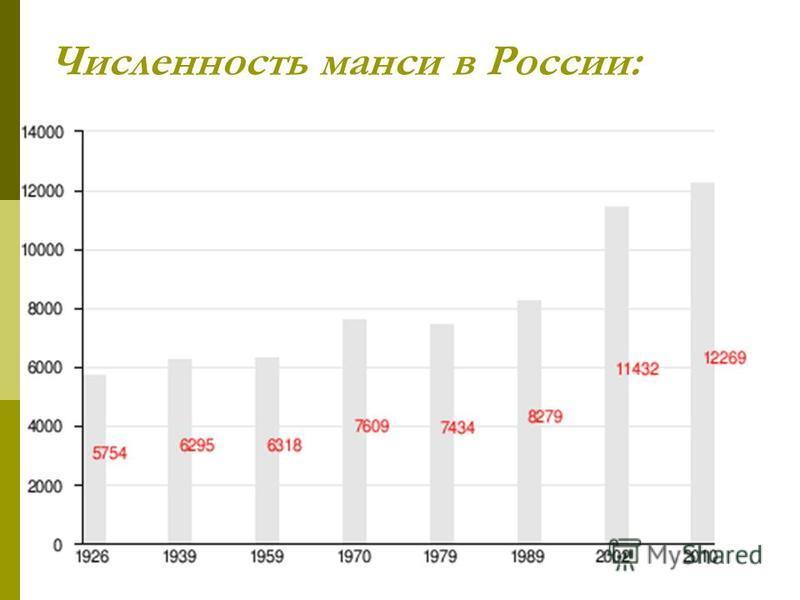 Численность манси в России: