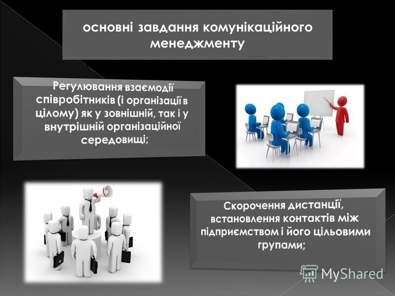 основні завдання комунікаційного менеджменту
