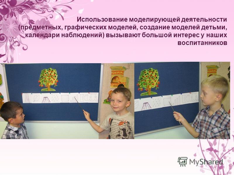 Использование моделирующей деятельности (предметных, графических моделей, создание моделей детьми, календари наблюдений) вызывают большой интерес у наших воспитанников