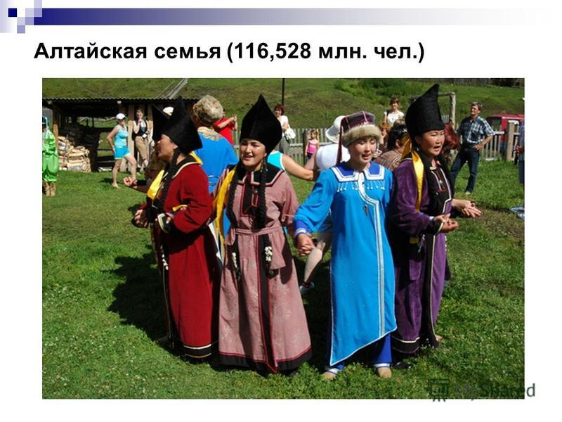 Алтайская семья (116,528 млн. чел.)