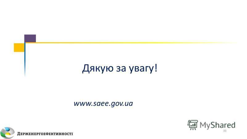 www.saee.gov.ua Дякую за увагу! 33