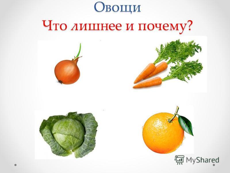 Овощи Что лишнее и почему?