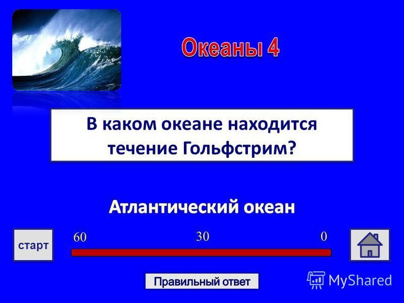 В каком океане находится течение Гольфстрим? 030 6060 старт