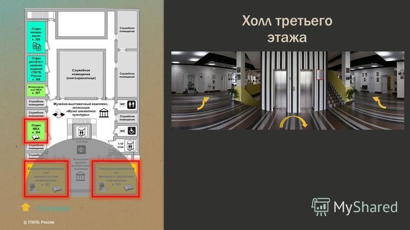 Холл третьего этажа К этажам © ГПНТБ России