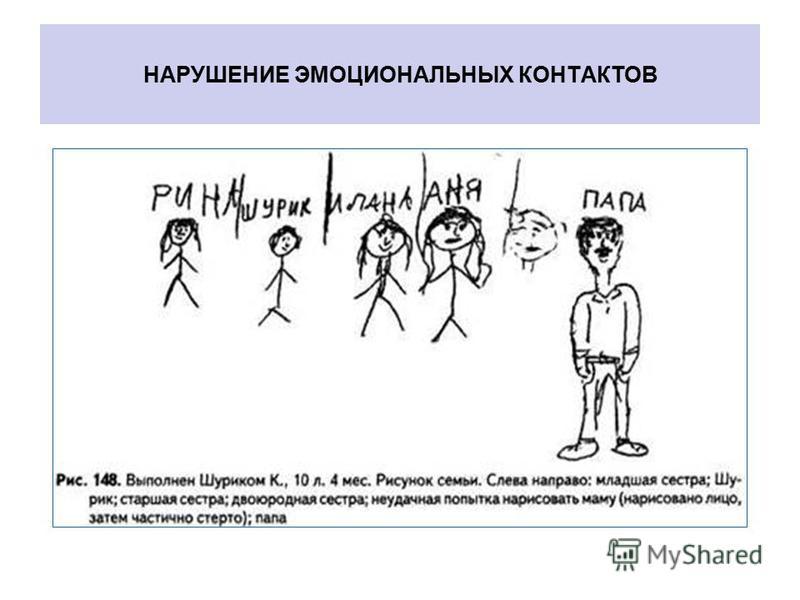 НАРУШЕНИЕ ЭМОЦИОНАЛЬНЫХ КОНТАКТОВ