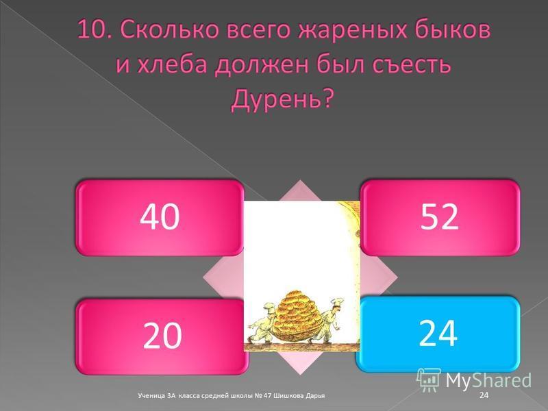 Ученица 3А класса средней школы 47 Шишкова Дарья 24 40522024