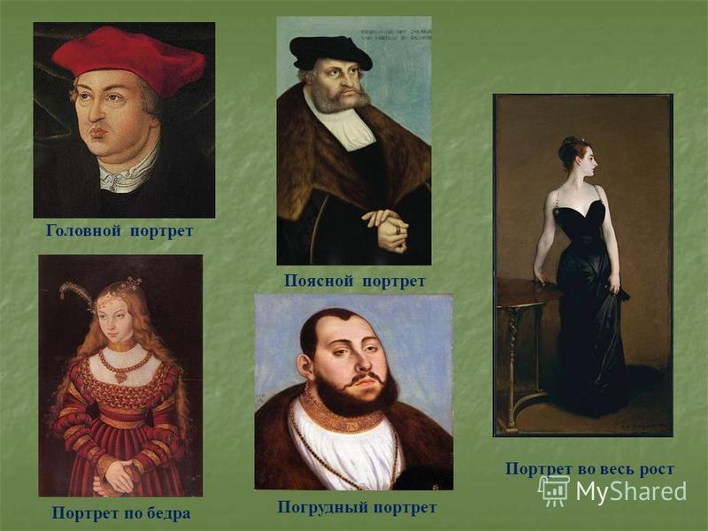 Головной портрет Погрудный портрет Поясной портрет Портрет по бедра Портрет во весь рост