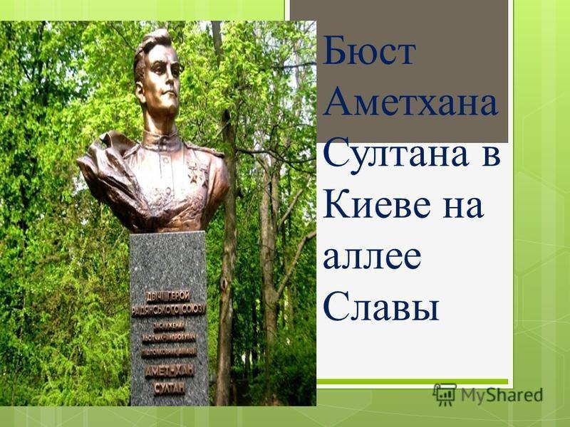 Бюст Аметхана Султана в Киеве на аллее Славы