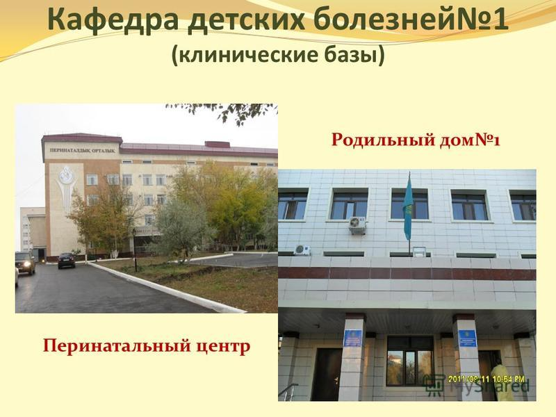 Кафедра детских болезней 1 (клинические базы) Перинатальный центр Родильный дом 1