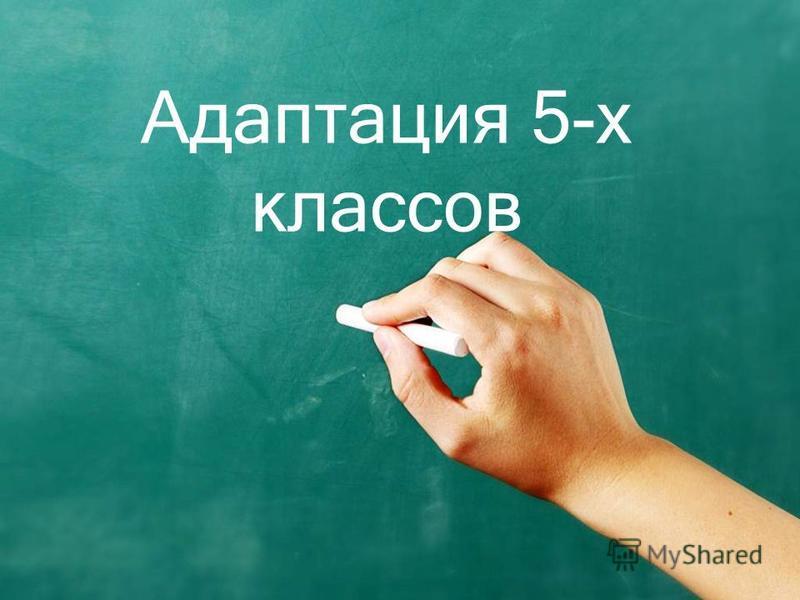 Адаптация 5-х классов
