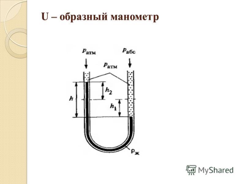 U – образный манометр