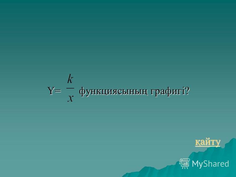 Y= функциясының графигі? қайту қайту