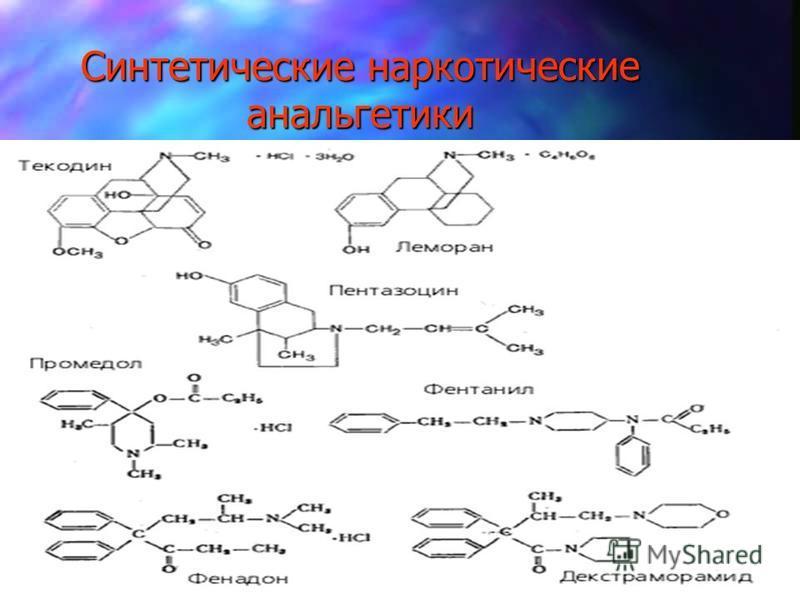 Синтетические наркотические анальгетики