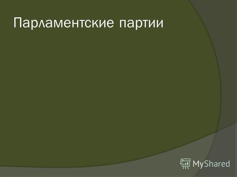 Парламентские партии