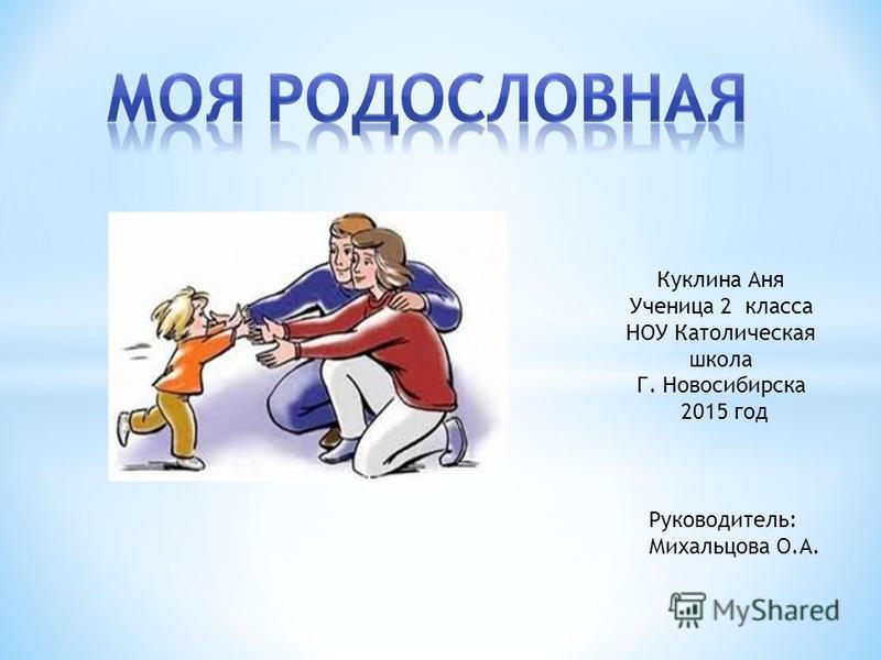 Куклина Аня Ученица 2 класса НОУ Католическая школа Г. Новосибирска 2015 год Руководитель: Михальцова О.А.