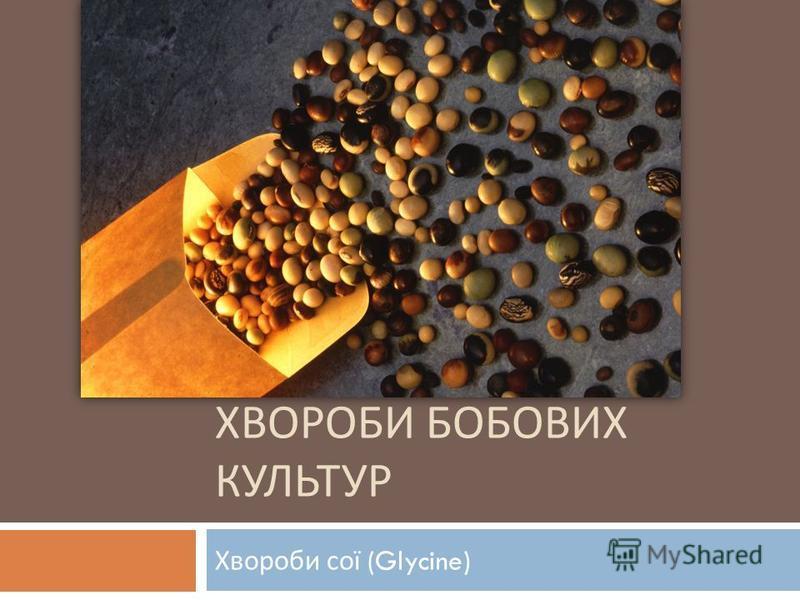 ХВОРОБИ БОБОВИХ КУЛЬТУР Хвороби сої (Glycine)