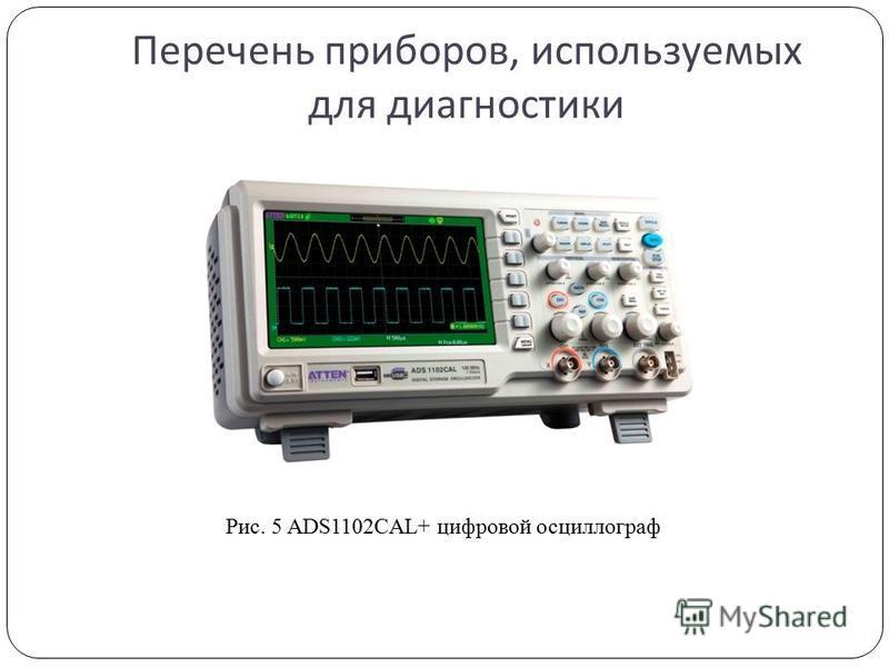 Перечень приборов, используемых для диагностики Рис. 5 ADS1102CAL+ цифровой осциллограф