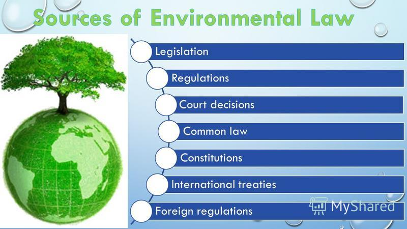 Legislation Regulations Court decisions Common law Constitutions International treaties Foreign regulations
