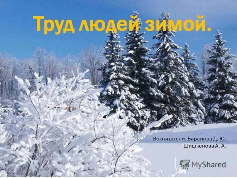 Воспитатели: Баранова Д. Ю. Шишканова А. А.