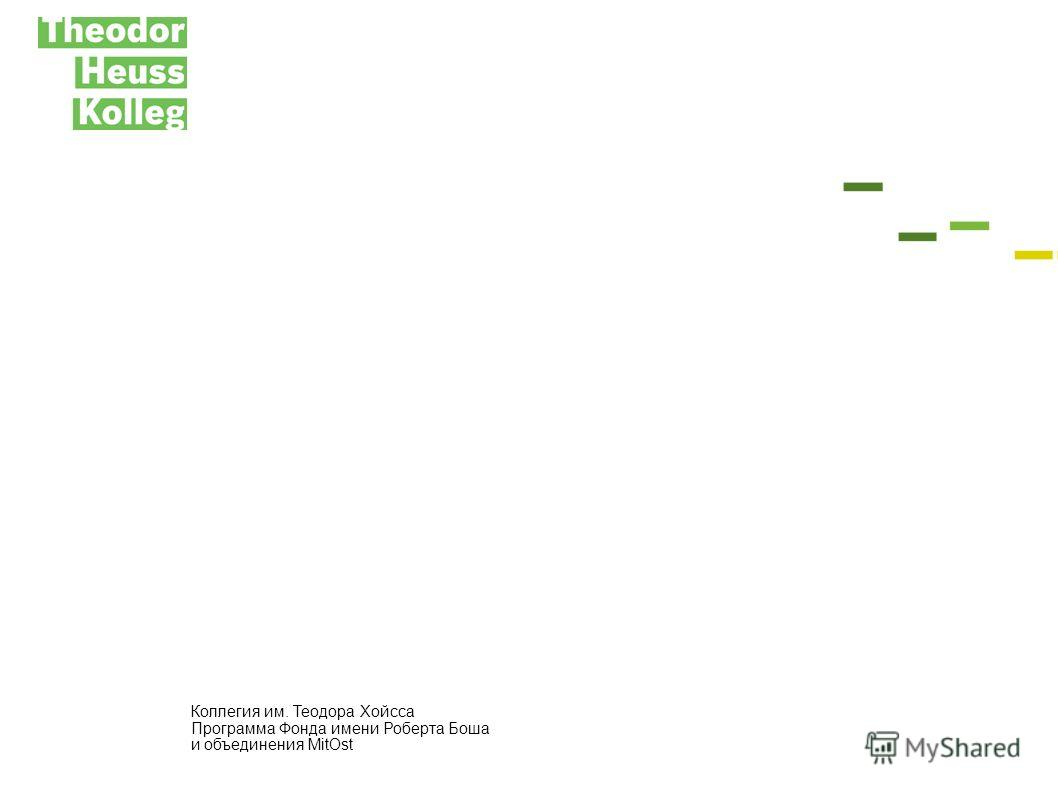 Коллегия им. Теодора Хойсса Программа Фонда имени Роберта Боша и объединения MitOst