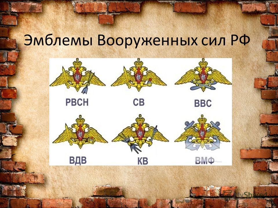 Эмблемы Вооруженных сил РФ