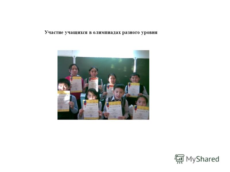 Участие учащихся в олимпиадах разного уровня