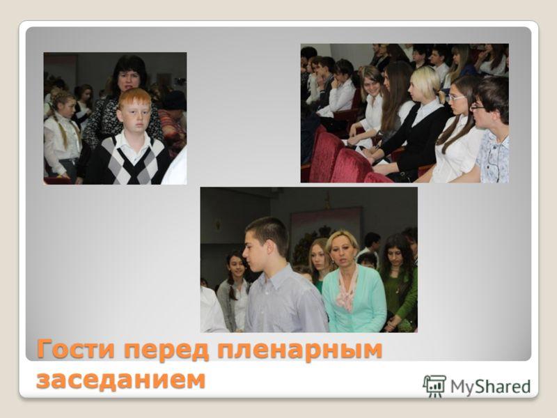 Гости перед пленарным заседанием