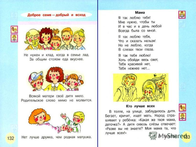 21 Моя семья – мой мир На примере учебника Л.Ф.Климановой, С.Г. Макеевой «Азбука»