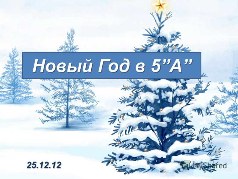 Новый Год в 5A 25.12.12