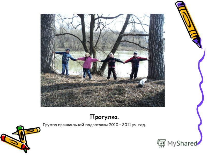 Прогулка. Группа прешкольной подготовки 2010 – 2011 уч. год.