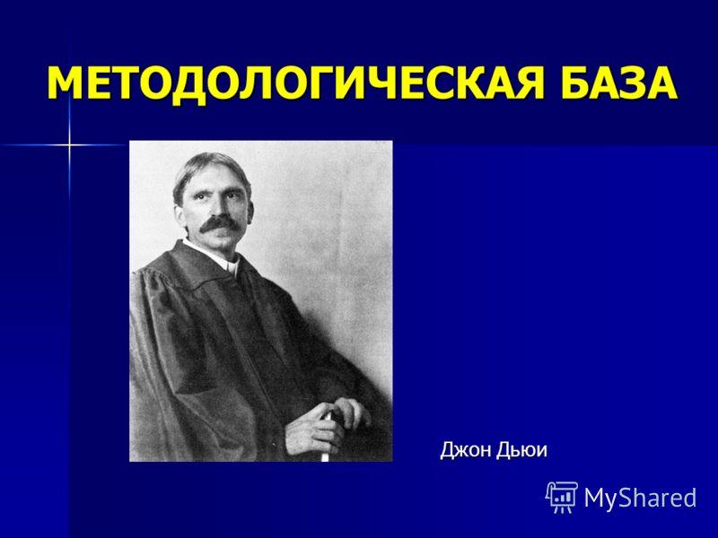 Джон Дьюи Джон Дьюи МЕТОДОЛОГИЧЕСКАЯ БАЗА