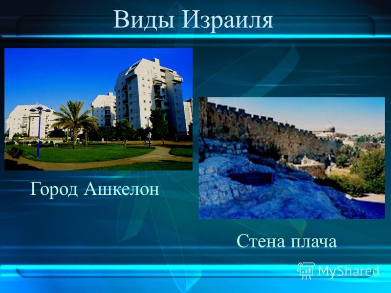 Виды Израиля Город Ашкелон Стена плача
