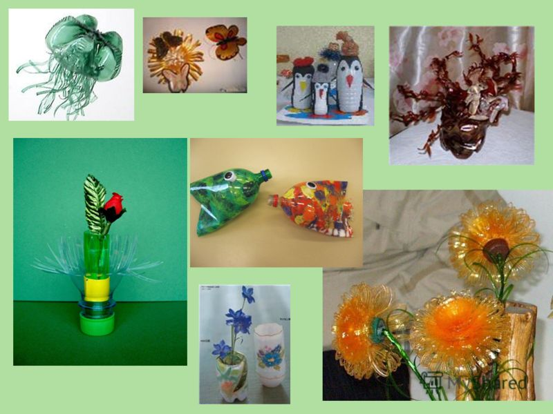 А ещё из пластиковых бутылок можно делать кормушки для птиц и красивые вещи.