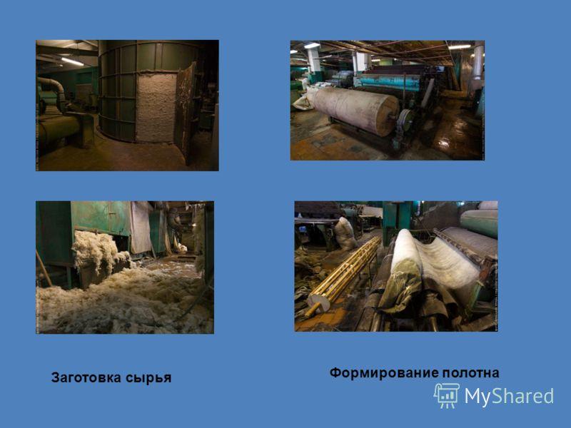 Заготовка сырья Формирование полотна