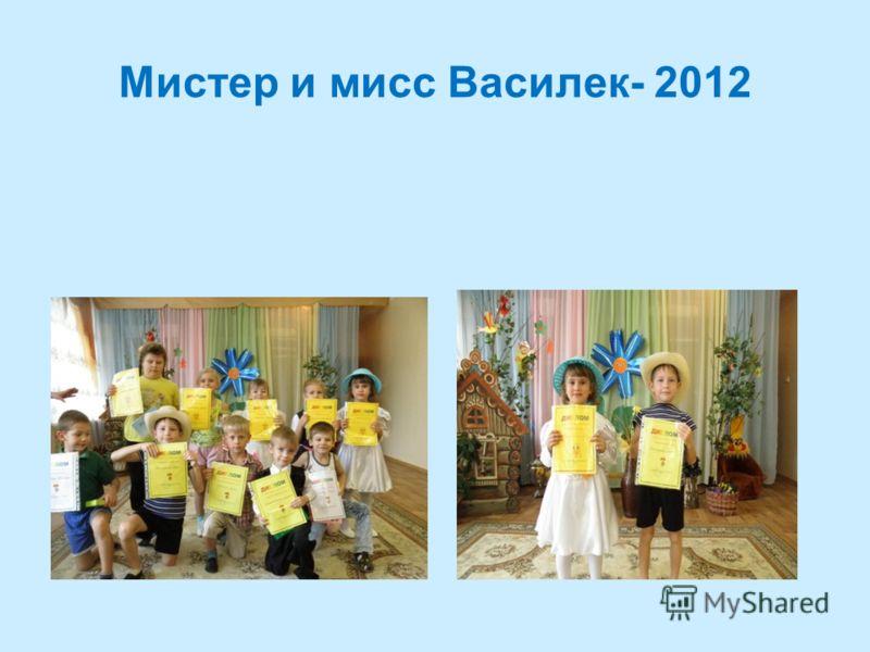 Мистер и мисс Василек- 2012