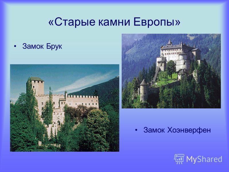 «Старые камни Европы» Замок Брук Замок Хоэнверфен