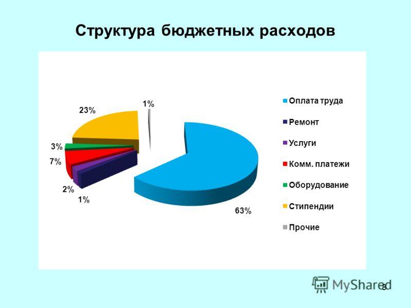 Структура бюджетных расходов 8