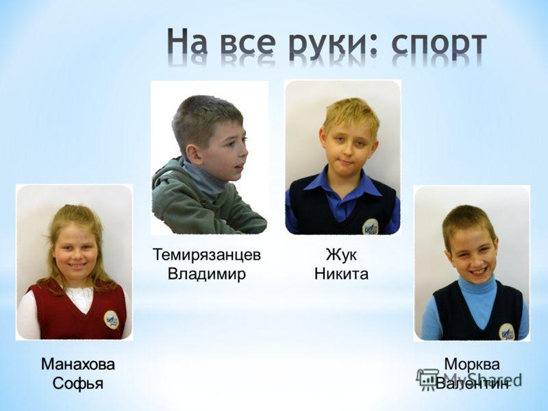 Манахова Софья Темирязанцев Владимир Манахова Софья Жук Никита Морква Валентин