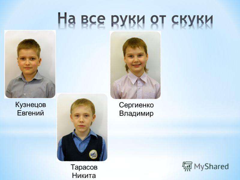 Тарасов Никита Кузнецов Евгений Сергиенко Владимир